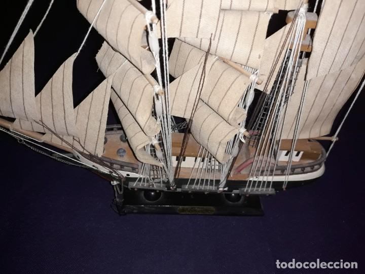 Antigüedades: Lote 12 Maquetas Barcos y 1 Cuadro Barco Nudos - Foto 8 - 223380707