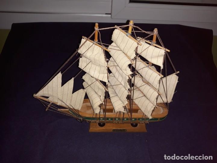 Antigüedades: Lote 12 Maquetas Barcos y 1 Cuadro Barco Nudos - Foto 9 - 223380707