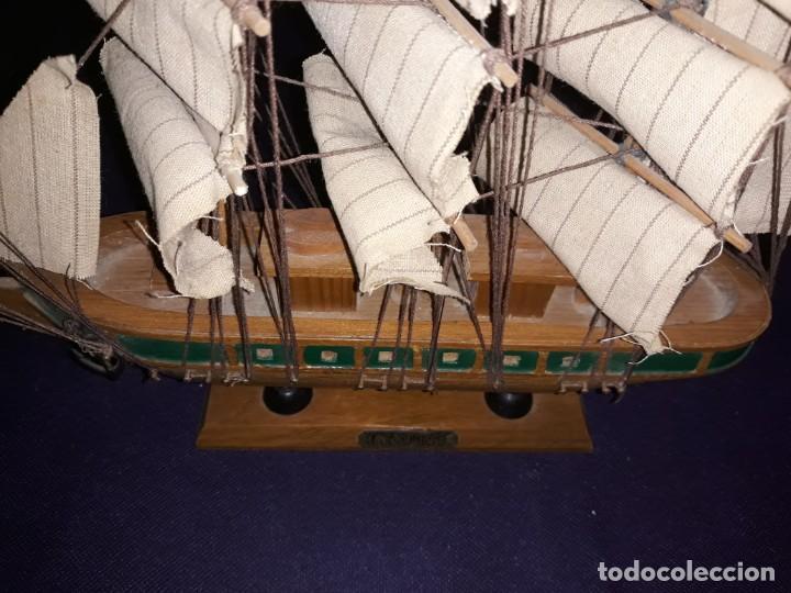Antigüedades: Lote 12 Maquetas Barcos y 1 Cuadro Barco Nudos - Foto 10 - 223380707