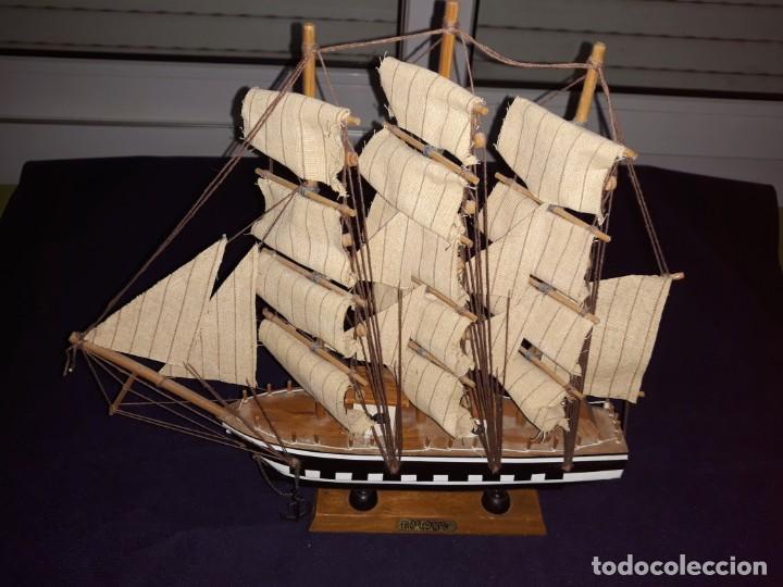 Antigüedades: Lote 12 Maquetas Barcos y 1 Cuadro Barco Nudos - Foto 11 - 223380707
