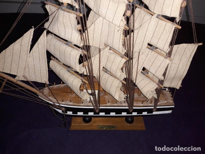 Antigüedades: Lote 12 Maquetas Barcos y 1 Cuadro Barco Nudos - Foto 12 - 223380707