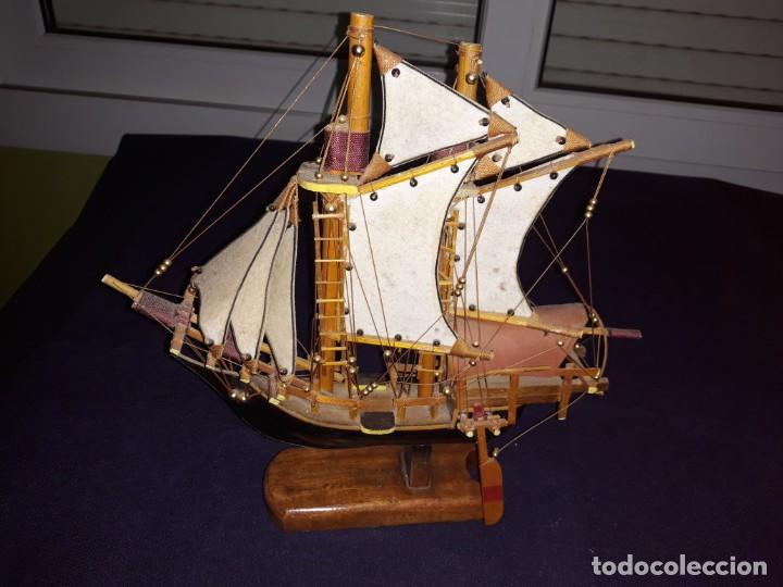 Antigüedades: Lote 12 Maquetas Barcos y 1 Cuadro Barco Nudos - Foto 13 - 223380707