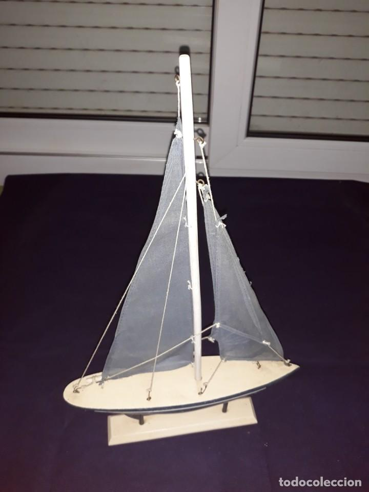 Antigüedades: Lote 12 Maquetas Barcos y 1 Cuadro Barco Nudos - Foto 16 - 223380707