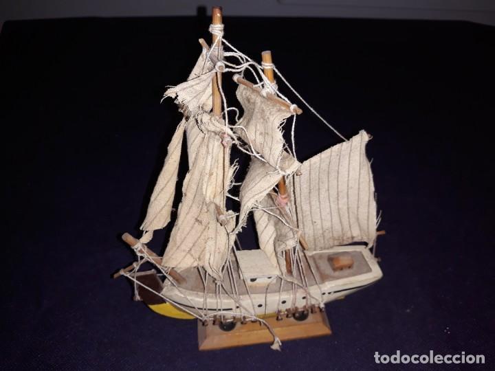 Antigüedades: Lote 12 Maquetas Barcos y 1 Cuadro Barco Nudos - Foto 18 - 223380707