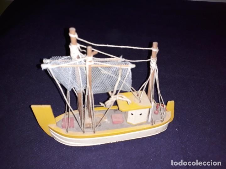 Antigüedades: Lote 12 Maquetas Barcos y 1 Cuadro Barco Nudos - Foto 20 - 223380707