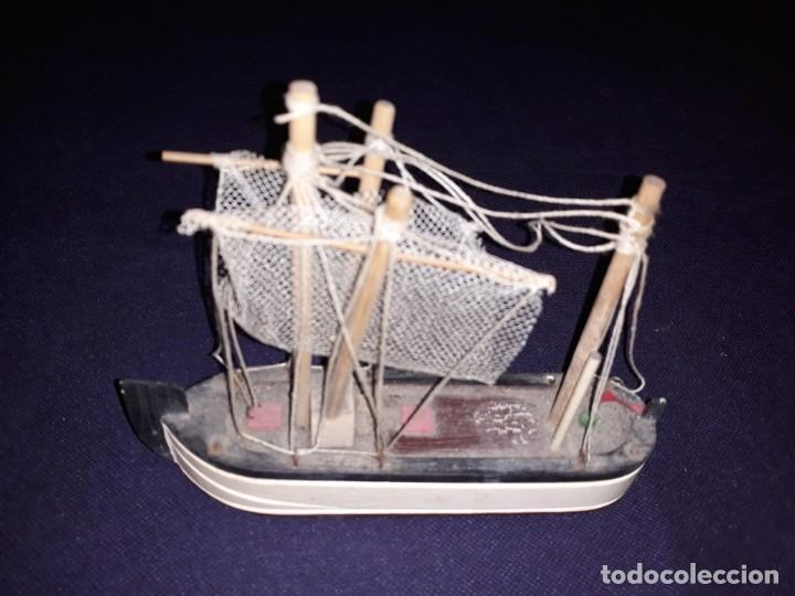 Antigüedades: Lote 12 Maquetas Barcos y 1 Cuadro Barco Nudos - Foto 21 - 223380707