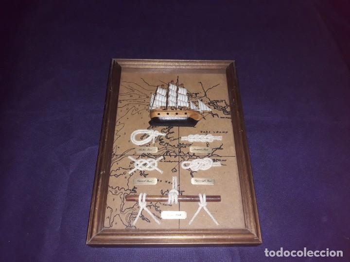 Antigüedades: Lote 12 Maquetas Barcos y 1 Cuadro Barco Nudos - Foto 22 - 223380707