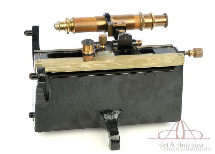 Antigüedades: Antiguo Microscopio Tipo Vernier, Philip Harris. Inglaterra, Circa 1920 - Foto 8 - 223388028