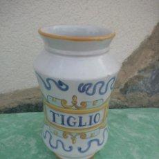 Antigüedades: ANTIGUO ALBARELO TARRO DE FARMACIA DE CERÁMICA IKUVIUM ARTE GUBBIO,TIGLIO. ITALIA. Lote 223422330