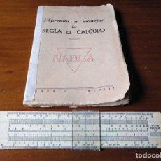 Antigüedades: 1952 NABLA REGLA DE CALCULO APRENDA A MANEJAR LA REGLA DE CALCULO NABLA - SLIDE RULE KEISANJYAKU. Lote 223429027