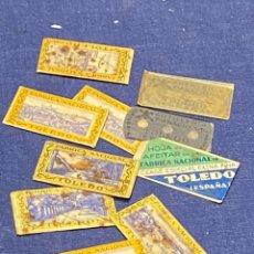 Antigüedades: 10 HOJAS AFEITAR FABRICA NACIONAL TOLEDO SIN CAJA PPIO S XX VER FOTOS 5X2,5CMS. Lote 223439632