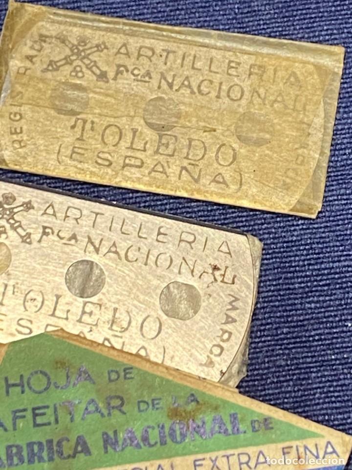 Antigüedades: 10 hojas afeitar fabrica nacional toledo sin caja ppio s xx ver fotos 5x2,5cms - Foto 4 - 223439632