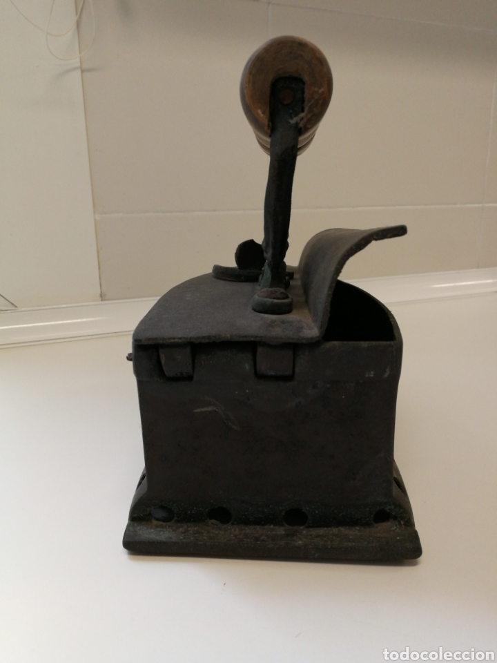 Antigüedades: Antigua Plancha de carbón - Foto 3 - 59769596