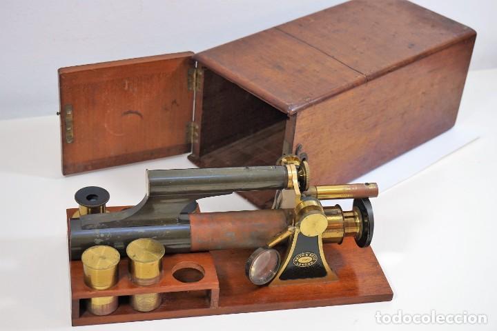 "Antigüedades: ANTIGUO MICROSCOPIO INGLÉS ""SMITH AND BECK"" modelo MILKBOX c. 1847 - Foto 5 - 223499410"
