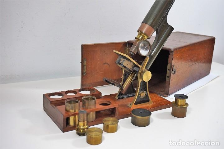 "Antigüedades: ANTIGUO MICROSCOPIO INGLÉS ""SMITH AND BECK"" modelo MILKBOX c. 1847 - Foto 6 - 223499410"