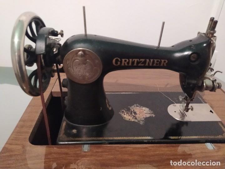 MÁQUINA DE COSER GRITZNER. AÑOS 40. (Antigüedades - Técnicas - Máquinas de Coser Antiguas - Otras)