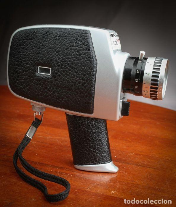 Antigüedades: CÁMARA BAUER C3 SUPER 8 mm CON FUNDA ORIGINAL, EN MUY BUEN ESTADO - Foto 5 - 223600510