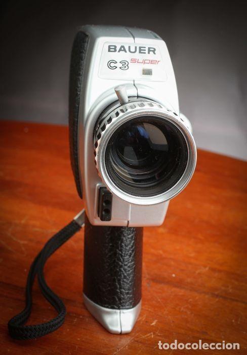 Antigüedades: CÁMARA BAUER C3 SUPER 8 mm CON FUNDA ORIGINAL, EN MUY BUEN ESTADO - Foto 6 - 223600510