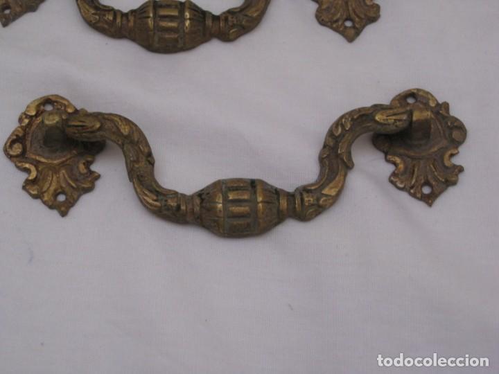 Antigüedades: 3 tiradores de bronce - Foto 2 - 223689313