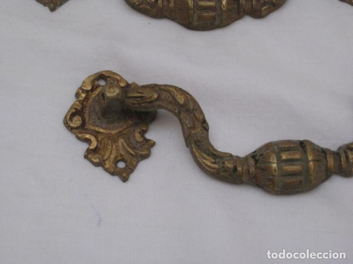 Antigüedades: 3 tiradores de bronce - Foto 4 - 223689313