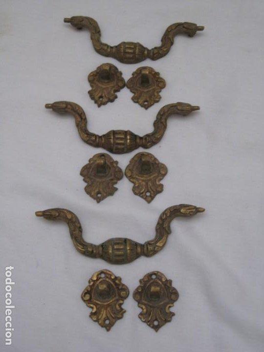 Antigüedades: 3 tiradores de bronce - Foto 7 - 223689313
