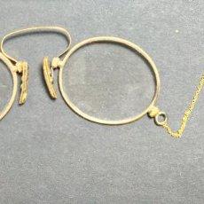 Antigüedades: ANTIGUAS GAFAS IMPERTINENTES QUEVEDO S. XIX CON FUNDA. Lote 223763082