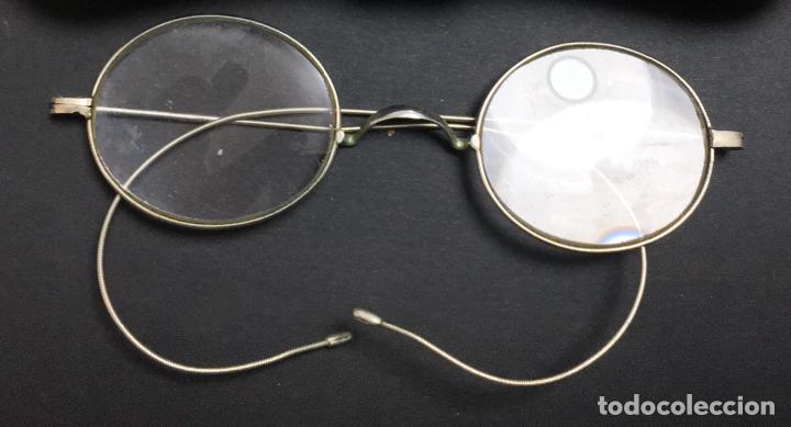Antigüedades: Antiguas gafas impertinentes quevedo S. XIX con funda - Foto 2 - 223763356
