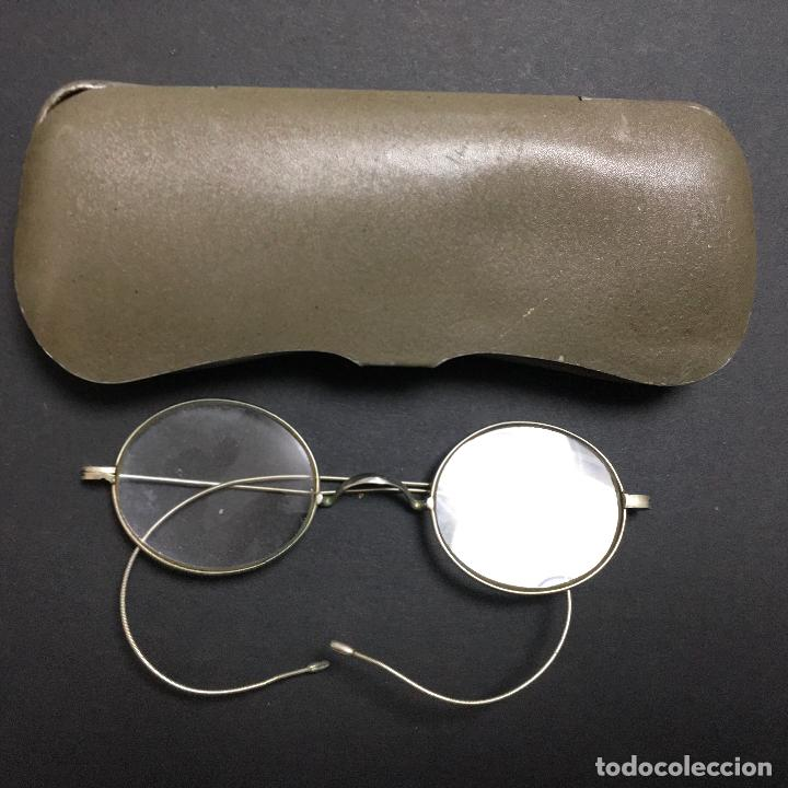 ANTIGUAS GAFAS IMPERTINENTES QUEVEDO S. XIX CON FUNDA (Antigüedades - Técnicas - Instrumentos Ópticos - Gafas Antiguas)