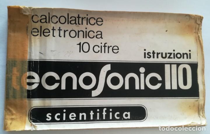 Antigüedades: calculadora cientifica tecnosonic 110 - Foto 7 - 224026766