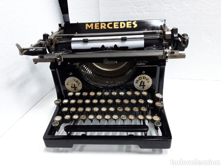 Antigüedades: ANTIGUA MAQUINA DE ESCRIBIR TYPEWRITER MERCEDES 4 - Foto 7 - 224215291