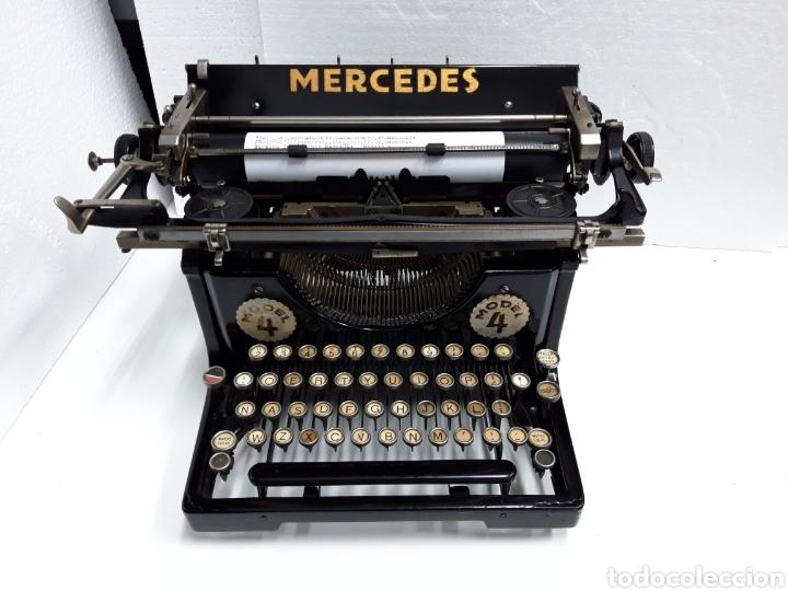 ANTIGUA MAQUINA DE ESCRIBIR TYPEWRITER MERCEDES 4 (Antigüedades - Técnicas - Máquinas de Escribir Antiguas - Mercedes)