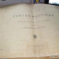 Antigüedades: CATALOGO DE CARTAS NAUTICAS Y OTRAS PUBLICACIONES EDITADA POR EL INSTITUTO H. DE LA MARINA 1956. Lote 224221472