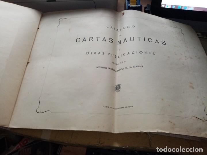 Antigüedades: CATALOGO DE CARTAS NAUTICAS Y OTRAS PUBLICACIONES EDITADA POR EL INSTITUTO H. DE LA MARINA 1956 - Foto 2 - 224221472