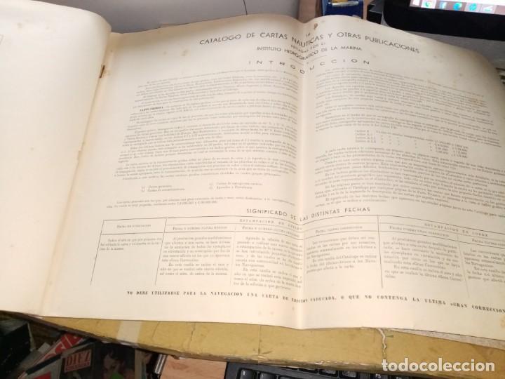 Antigüedades: CATALOGO DE CARTAS NAUTICAS Y OTRAS PUBLICACIONES EDITADA POR EL INSTITUTO H. DE LA MARINA 1956 - Foto 3 - 224221472