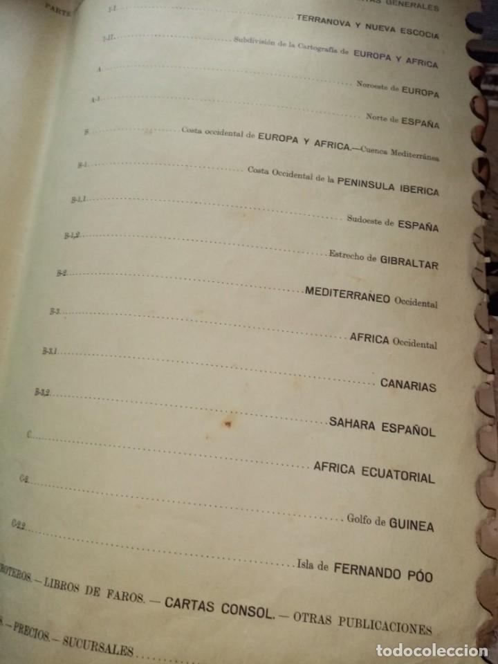 Antigüedades: CATALOGO DE CARTAS NAUTICAS Y OTRAS PUBLICACIONES EDITADA POR EL INSTITUTO H. DE LA MARINA 1956 - Foto 4 - 224221472