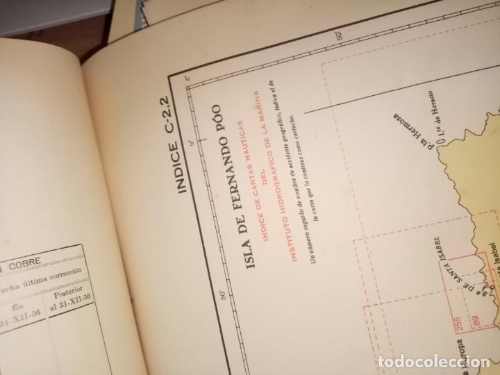 Antigüedades: CATALOGO DE CARTAS NAUTICAS Y OTRAS PUBLICACIONES EDITADA POR EL INSTITUTO H. DE LA MARINA 1956 - Foto 12 - 224221472