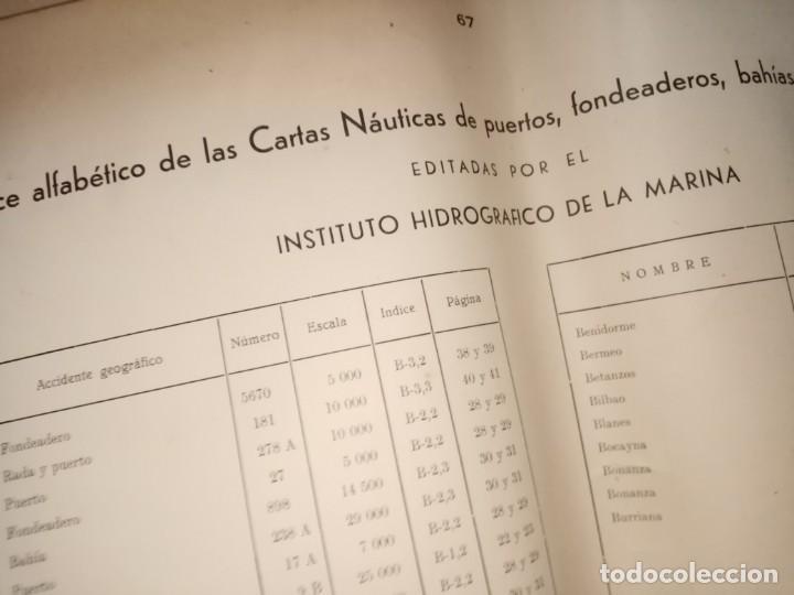 Antigüedades: CATALOGO DE CARTAS NAUTICAS Y OTRAS PUBLICACIONES EDITADA POR EL INSTITUTO H. DE LA MARINA 1956 - Foto 15 - 224221472