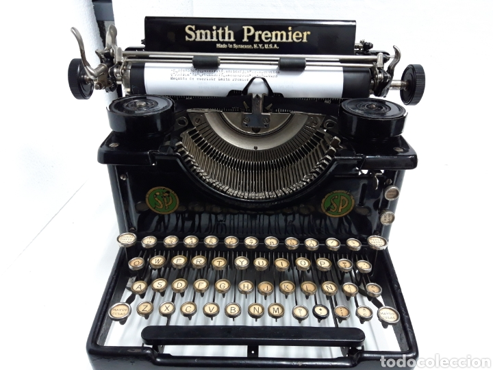 ANTIGUA MAQUINA DE ESCRIBIR TYPEWRITER SMITH PREMIER (Antigüedades - Técnicas - Máquinas de Escribir Antiguas - Smith)