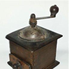 Antigüedades: GRAN MOLINILLO DE CAFÉ ANTIGUO EN MADERA Y METAL - ENVÍO GRATIS PENÍNSULA. Lote 224324908