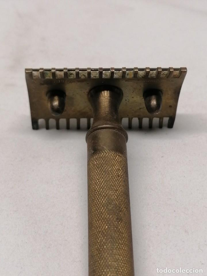 Antigüedades: Antigua maquinilla afeitar Gillette - Foto 3 - 224452665