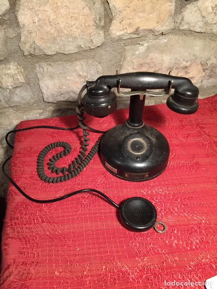ANTIGUO TELEFONO DE RULETA DE BAQUELITA NEGRA AÑOS 30-40 (Antigüedades - Técnicas - Teléfonos Antiguos)