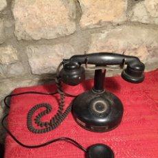 Teléfonos: ANTIGUO TELEFONO DE RULETA DE BAQUELITA NEGRA AÑOS 30-40. Lote 224476275