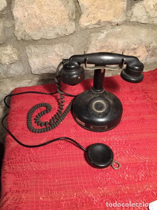 Teléfonos: Antiguo telefono de ruleta de baquelita negra años 30-40 - Foto 2 - 224476275