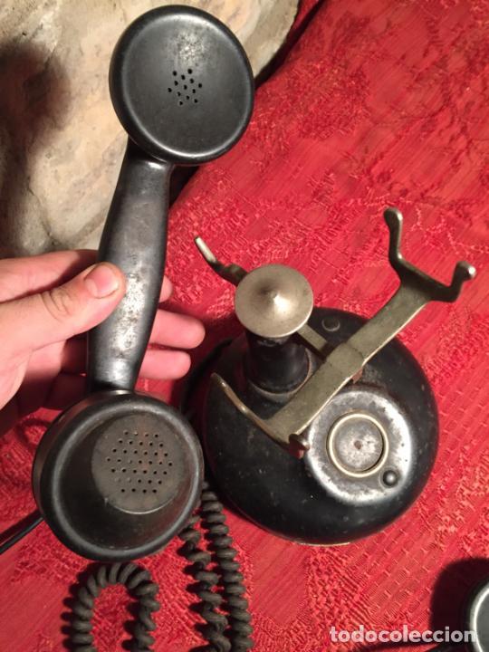 Teléfonos: Antiguo telefono de ruleta de baquelita negra años 30-40 - Foto 4 - 224476275