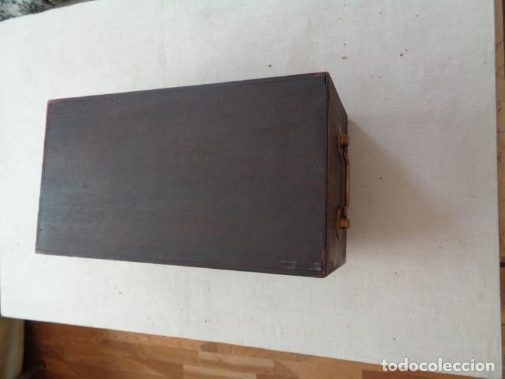 Antigüedades: CAJA PARA MICROSCOPIO CON LLAVE - Foto 6 - 224503802