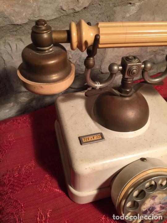 Teléfonos: Antiguo telefono blanco de la marca Elasa de los años 60-70 - Foto 2 - 224511402