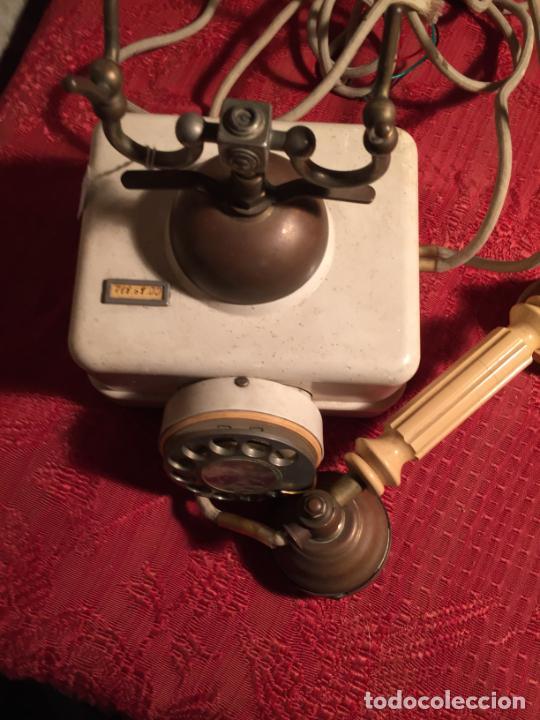 Teléfonos: Antiguo telefono blanco de la marca Elasa de los años 60-70 - Foto 14 - 224511402