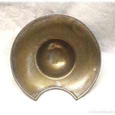 Antigüedades: BACIA DE BARBERO METAL O LATÓN S XIX. MED. 13 CM. Lote 224512507