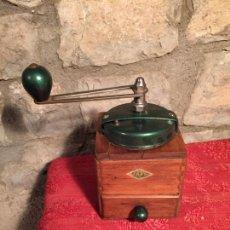Antigüedades: ANTIGUO MOLINILLO DE CAFÉ MARCA JAPY FRÈRES DE MADERA DE LOS AÑOS 50. Lote 224533985