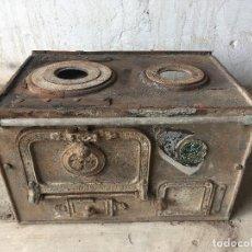 Antigüedades: PRECIOSA COCINA ECONÓMICA JOSE MINGRAT-BARCELONA-RONDA UNIVERSIDAD 37-HIERRO. Lote 224646332